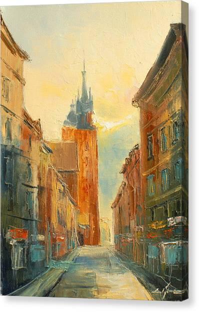 Krakow Florianska Street Canvas Print