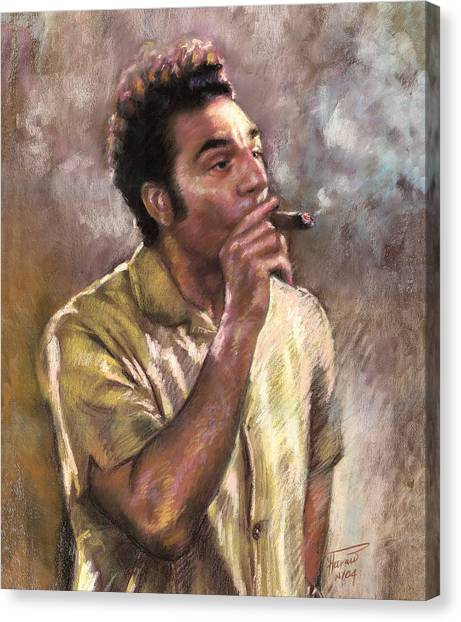 Celebrities Canvas Print - Kramer by Ylli Haruni