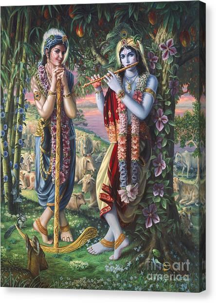 Krishna And Balaram  Canvas Print