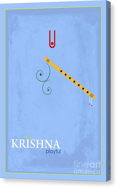 Yogi Canvas Print - Krishna The Playful by Tim Gainey