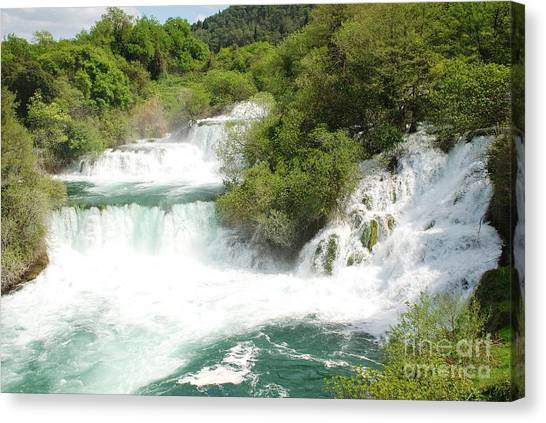 Krka Waterfalls Croatia Canvas Print