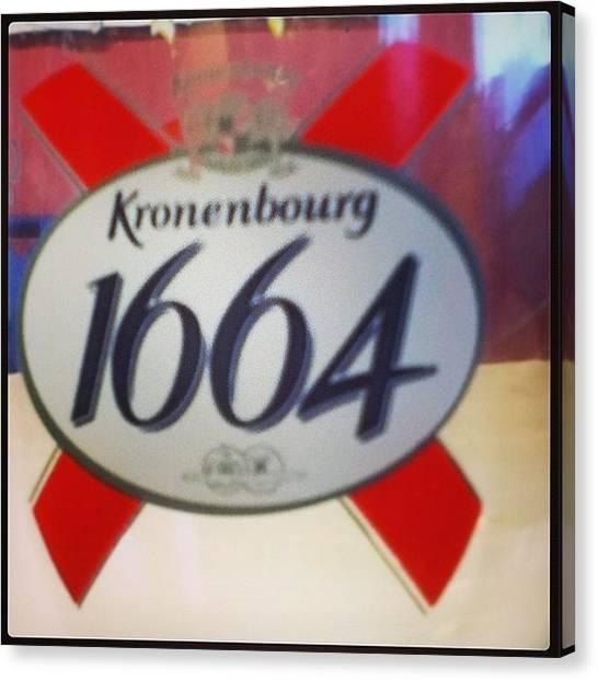 Lager Canvas Print - #kronenburg #1664 #beer #lager #glass by John Lowery-brady