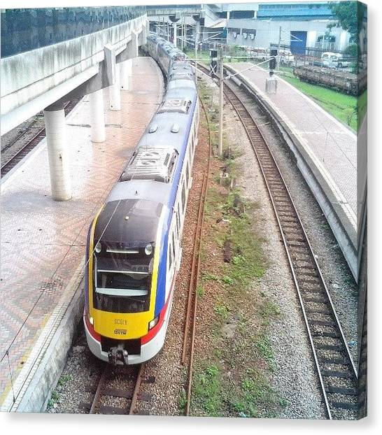 Trainspotting Canvas Print - #ktmkomuter Scs18 Bound To #sggadut by Yukken Pierz