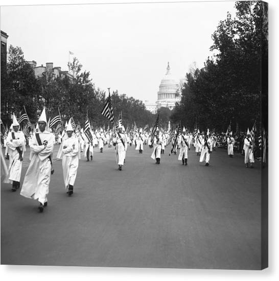Capitol Building Canvas Print - Ku Klux Klan Parade by Library of Congress