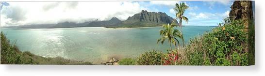 Kualua Kauai Panoramic Canvas Print by Tropigallery -