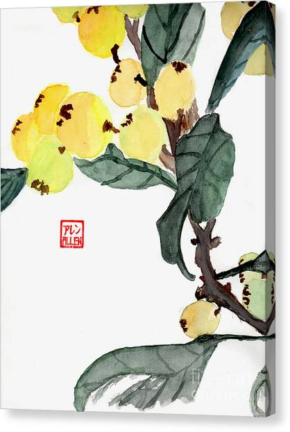 Kumquats  Chinese Watercolor Painting Canvas Print
