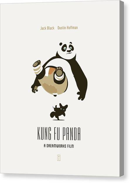 Kung Fu Canvas Print - Kung Fu Panda by Smile In The  Mind