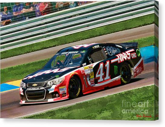 Kurt Busch Canvas Print - Kurt Busch 2014 by Blake Richards