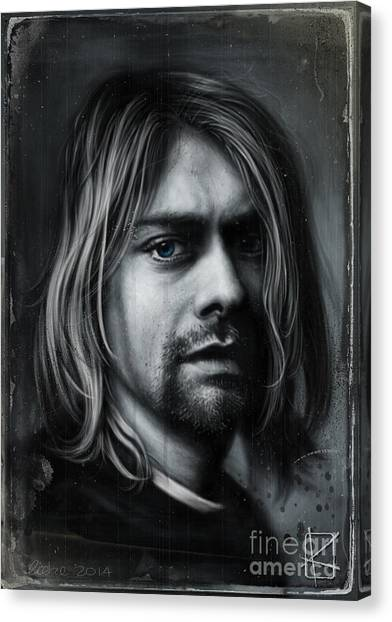 Nirvana Canvas Print - Kurt Cobain by Andre Koekemoer