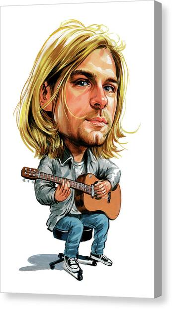 Nirvana Canvas Print - Kurt Cobain by Art