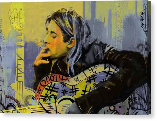 Kurt Cobain Canvas Print - Kurt Cobain by Corporate Art Task Force