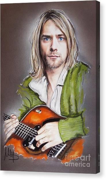 Kurt Cobain Canvas Print - Kurt Cobain by Melanie D