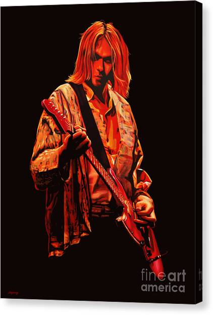 Rights Canvas Print - Kurt Cobain Painting by Paul Meijering
