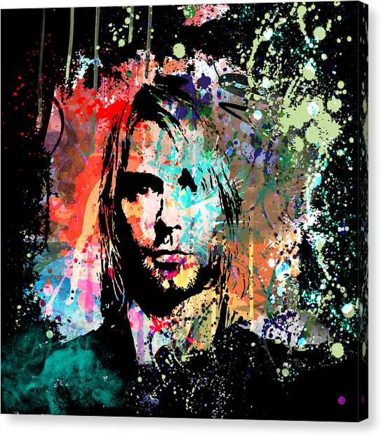Kurt Cobain Canvas Print - Kurt Cobain Portrait by Gary Grayson