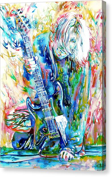 Kurt Cobain Canvas Print - Kurt Cobain Portrait.1 by Fabrizio Cassetta