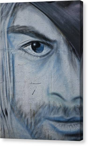 Graffiti Walls Canvas Print - Kurt by Joachim G Pinkawa