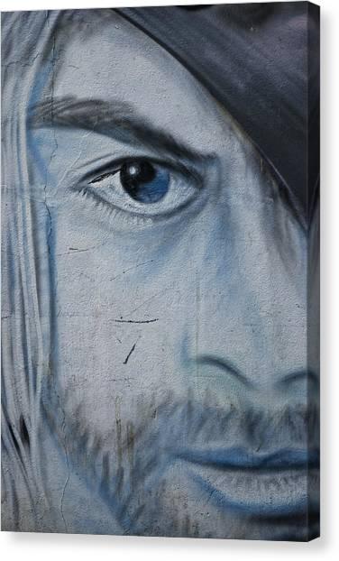 Graffiti Walls Canvas Print - Kurt by Joachim G Pinkawa