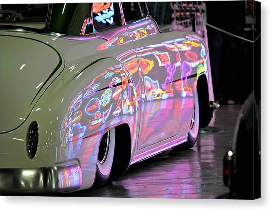 Kustom Neon Reflections Canvas Print