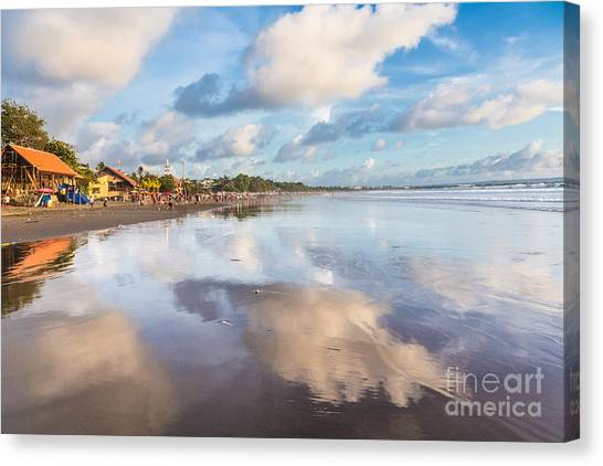 Kuta Beach In Seminyak Canvas Print