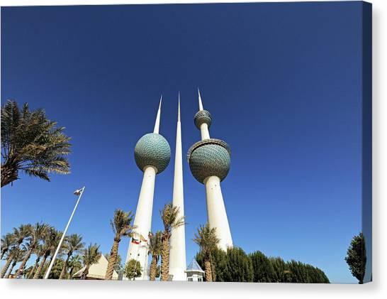 Kuwait Canvas Print - Kuwait, Kuwait City, Kuwait Towers by Anthony Asael