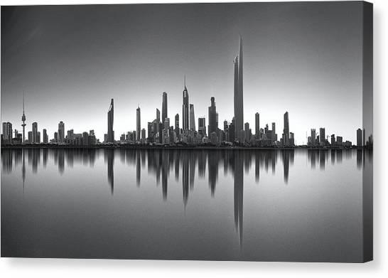 Kuwait Canvas Print - Kuwait Skyline by Ahmed Thabet