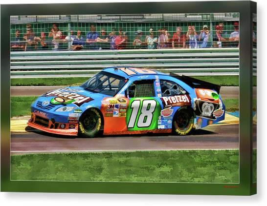 Kyle Busch Canvas Print - Kyle Busch by Blake Richards
