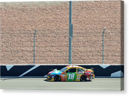 Kyle Busch Canvas Print - Kyle Busch by Jason Loving