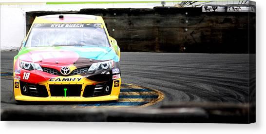 Racecar Drivers Canvas Print - Kyle Busch by Karen Scovill