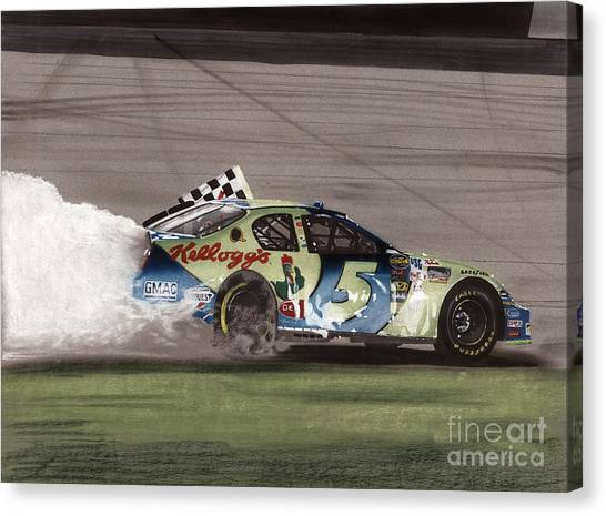 Kyle Busch Canvas Print - Kyle Busch Wins by Paul Kuras