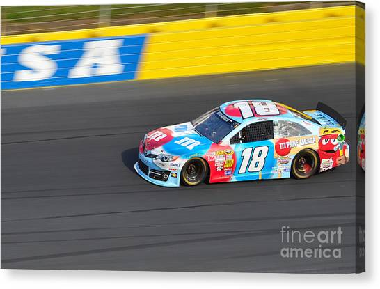 Kyle Busch Canvas Print - Kyle Busch's 18 by Mark Spearman