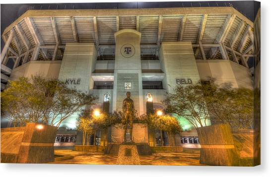 Texas A Canvas Print - Kyle Field by David Morefield