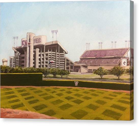 Johnny Manziel Canvas Print - Kyle Field by Wade Powell