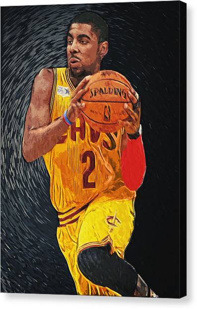 Lebron James Canvas Print - Kyrie Irving by Taylan Apukovska