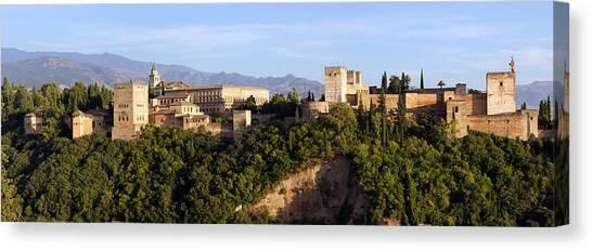 La Alhambra Panorama Canvas Print by Francesco Riccardo  Iacomino