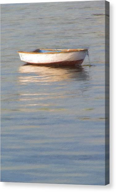La Barque Au Crepuscule Canvas Print
