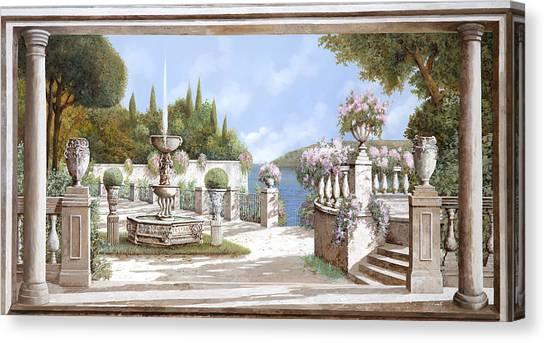 Fountain Canvas Print - La Bella Fontana by Guido Borelli
