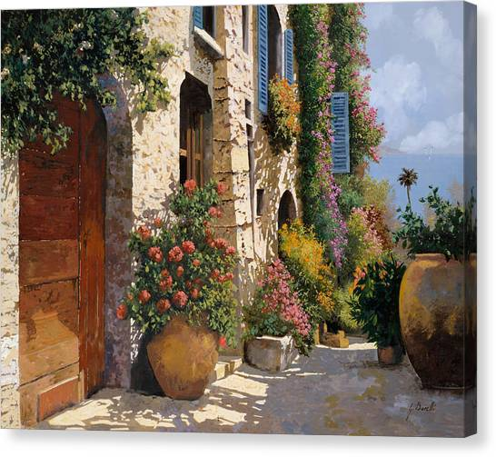 Street Scenes Canvas Print - La Bella Strada by Guido Borelli
