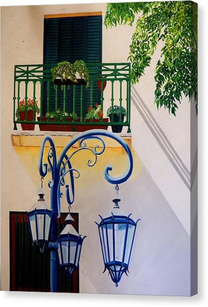 La Boca Shadows Canvas Print