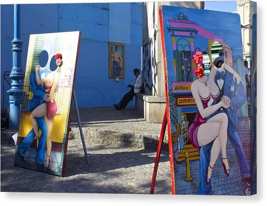 La Boca Blue Canvas Print