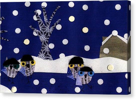 Snowflakes Canvas Print - La Boheme by Caroline Blum