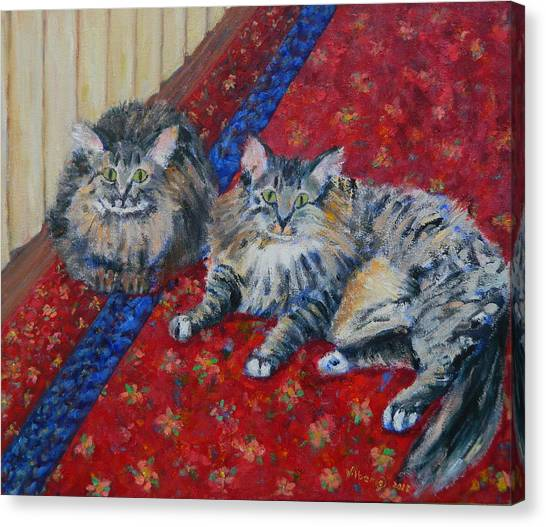 Main Coons Canvas Print - La Boheme  Mimi  Rodolfo by Bonnie Wilber