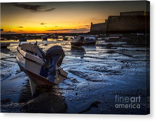 La Caleta Beach Cadiz Spain Canvas Print