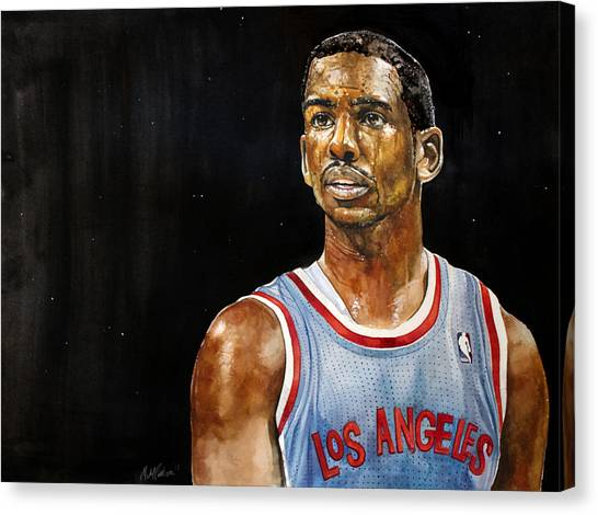 La Clippers Canvas Print - La Clippers' Chris Paul  by Michael  Pattison