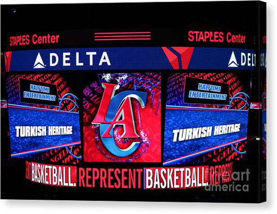 Western Conference Canvas Print - La Clippers Turkish Heritage by RJ Aguilar