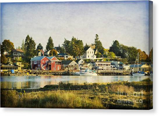 La Conner Waterfront Canvas Print