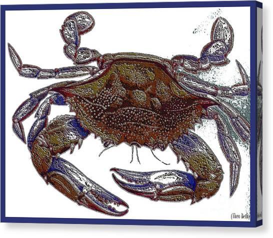 La' Crab Fest Canvas Print by Theo Bethel