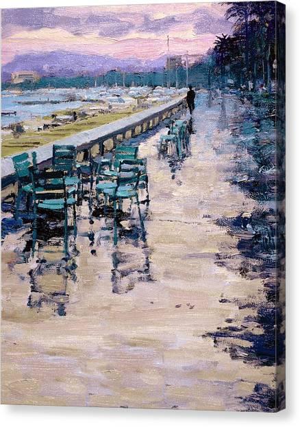 La Croisette Canvas Print by Michael Swanson