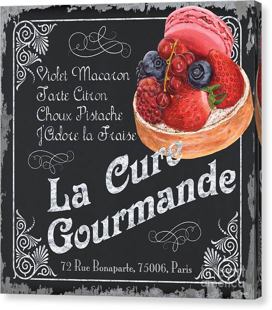 Strawberry Canvas Print - La Cure Gourmande by Debbie DeWitt