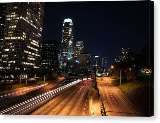 La Down Town Canvas Print