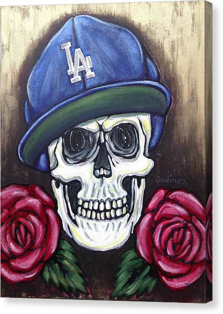 Los Angeles Dodgers Canvas Print - L.a Forever by Ivan Godinez